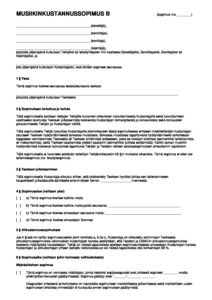 Download: Mallikustannussopimus B